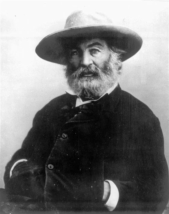 Walt Whitman photographic portrait, black and white
